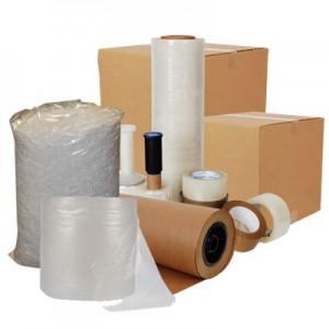 Taşınma için gerekli tüm eşyalar: koli bandı, streç, pat pat naylon, balonlu naylon, poşet