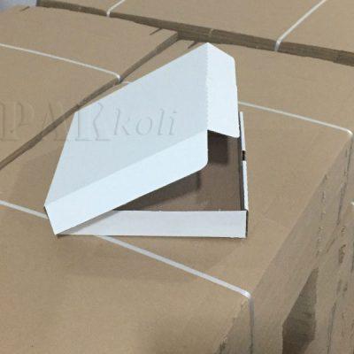 21,5 cmlik beyaz pizza kutusu