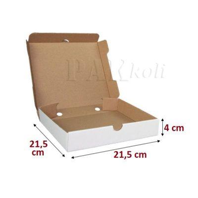 beyaz pizza kutusu, 21,5luk pizza kutusu