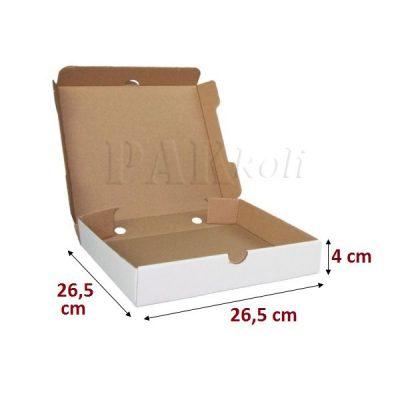 Beyaz pizza kutusu, ankara 26,5luk beyaz pizza kutusu