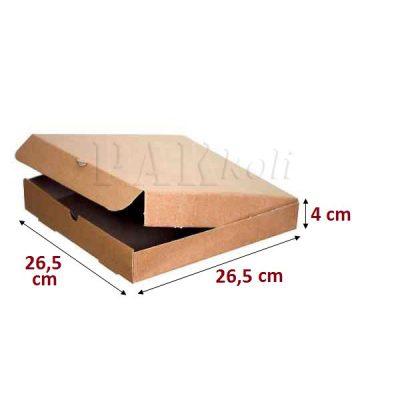 26,5 luk Kraft pizza kutusu 26,5 cm