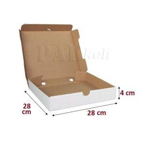 Ankara beyaz pizza kutusu 28 lik
