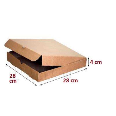 28lik kraft pizza kutusu