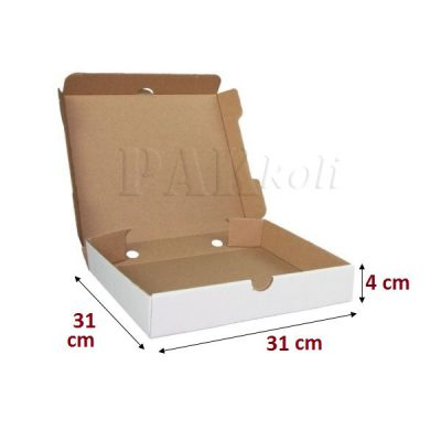 31 cm'lik beyaz pizza kutusu, ankara hazır pizza kutusu