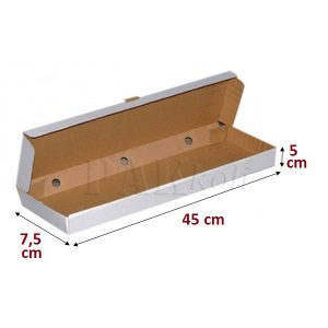 7_5x45x5 cm ankara beyaz pide kutusu gida kutusu