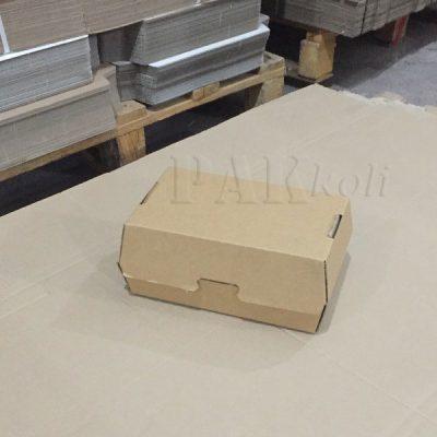 baskılı hamburger kutusu, baskısız hamburger kutusu